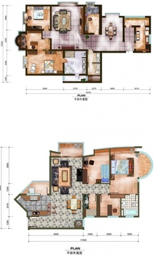the indoor top view europeanstyle modern psd