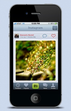 the iphone4 interface psd layered