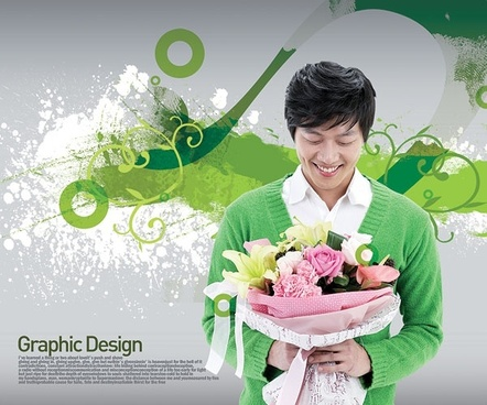 the korea design elements psd layered yi004