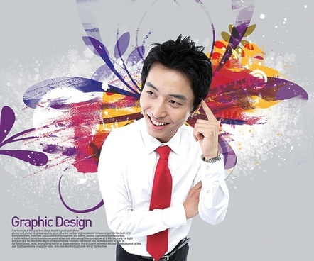 the korea design elements psd layered yi005