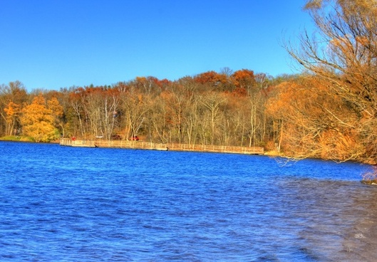 the lake shore at kettle moraine north wisconsin