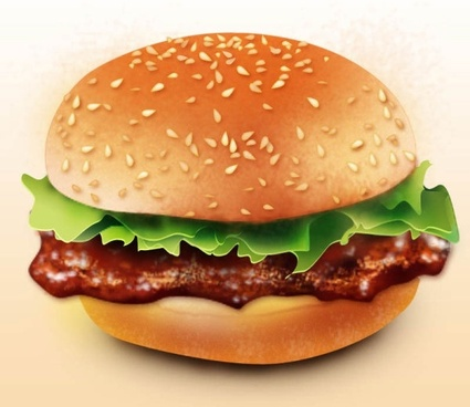 the lifelike realism hamburger psd layered