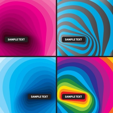 the lovely ripples background vector