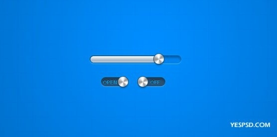 the metal texture progress bar button switch psd layered