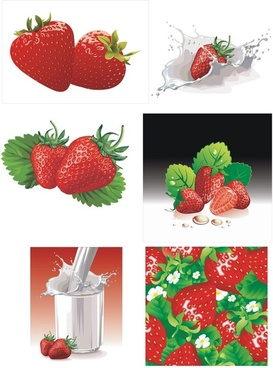 the milk and strawberry