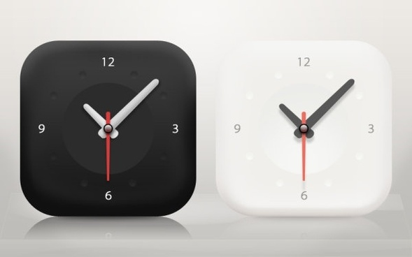 the minimalist clock icon psd layered