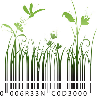 the offbeat bar codes design vector graphic