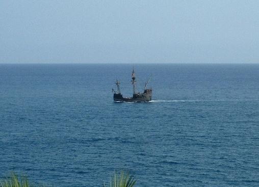 the old sailing ship
