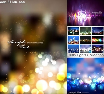 decorative background collection colorful sparkling bokeh design