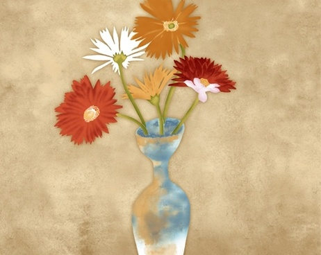 the painting texture vase psd layered