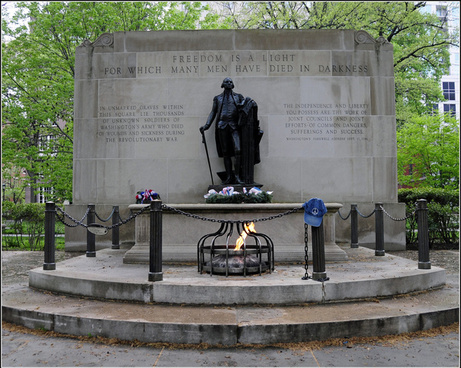 the peace hat and the tomb of the unknown revolutionary war soldier