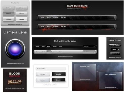 the pretty web design elements psd layered