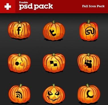 the pumpkin icon psd layered