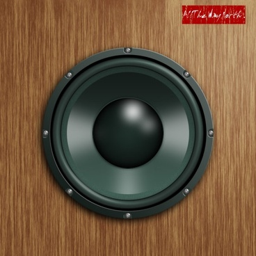 the realistic stereo speakers psd source files