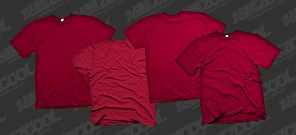 the red blank trends tshirt template psd layered