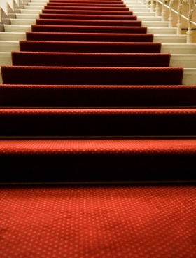 the red carpet of the staircase picture