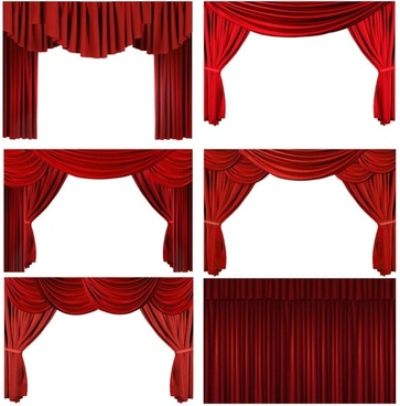 the red curtain curtain hd photo 2