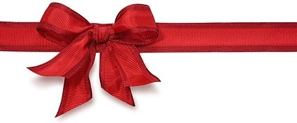 the red ribbon bow stock photo