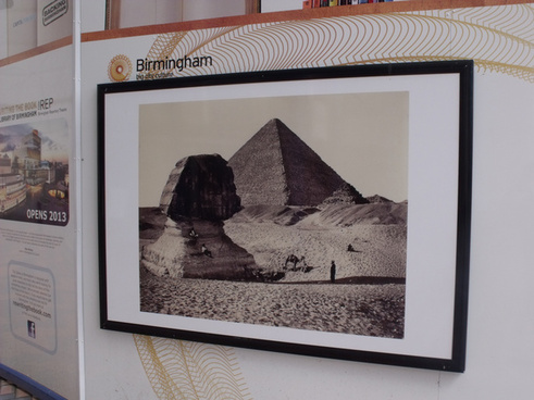 the rep centenary square hoardings wonders of the world photos f bedford pyramid and sphinx