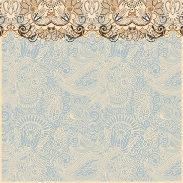 the retro classic pattern background 02 vector