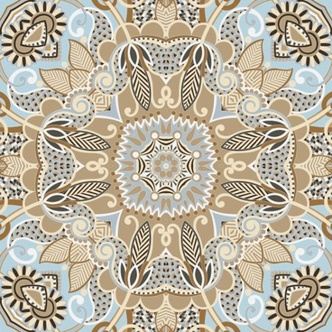 the retro classic pattern background 04 vector