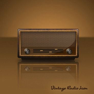 the retro radio psd layered icon