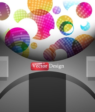 the rings background design 03 vector