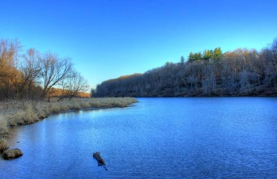 the river bend at backbone state park iowa