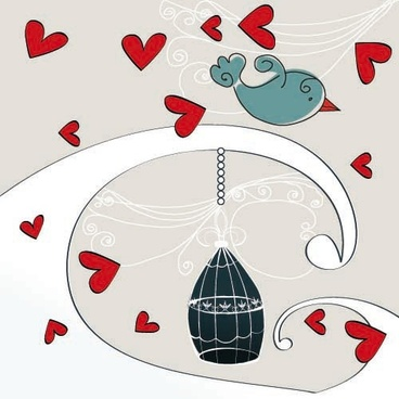 the romantic cartoon handpainted illustrations 04 vector