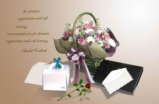 the romantic elegant flowers gift template stratified