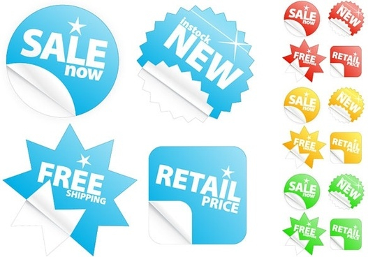 the sale of stickers feel clean vector