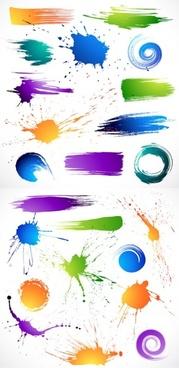 the splash brush effects vector