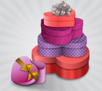 the stack of love gift vector