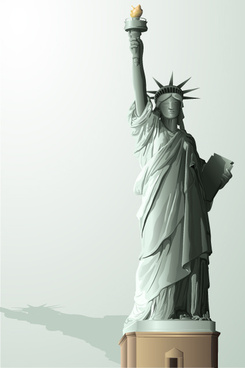 the statue of liberty vector graphic