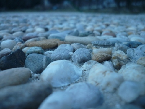 the stones pebbles nature
