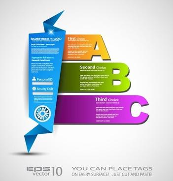 the stylish label design 01 vector