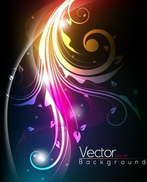 the stylish tread dynamic background vector