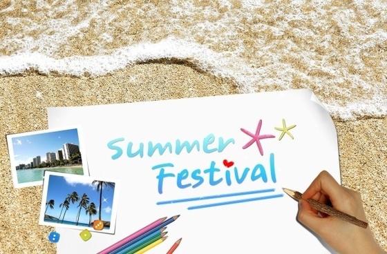the summer creative poster template stratified