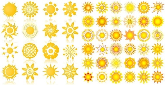 the sun vector graphics icon