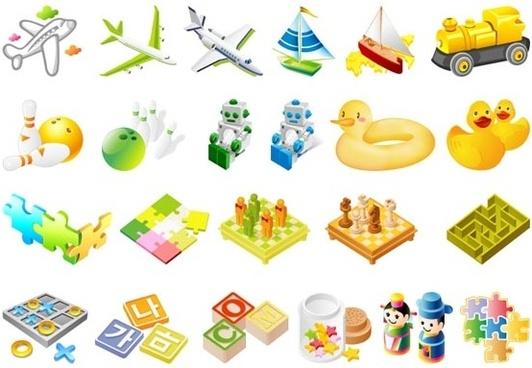 the third children toys vector
