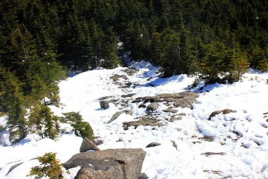 the trail down in the adirondack mountains new york