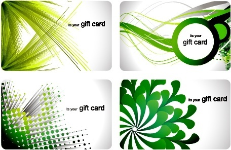 gift card templates modern floral dynamic abstract themes