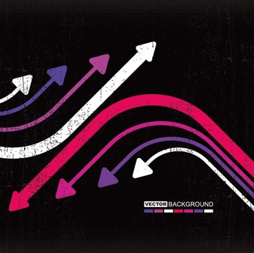 the trend of colored arrows 07 vector