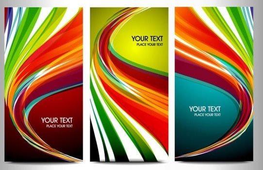decorative background templates colorful modern dynamic lines sketch