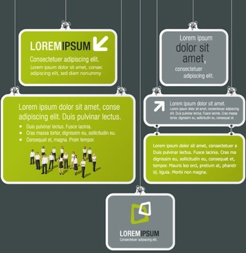 the trend of commercial labels 04 vector