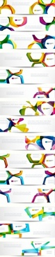 the trend of dynamic flow line banner vector
