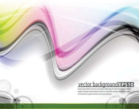 the trend of dynamic flow line gorgeous 01 vector