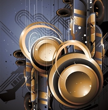 abstract background 3d shiny metallic style