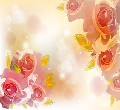 the trend of flowers background 02 vector