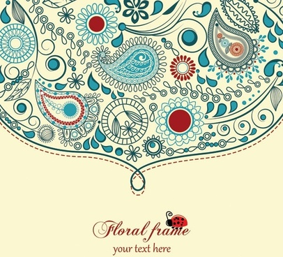 the trend of handpainted pattern vector